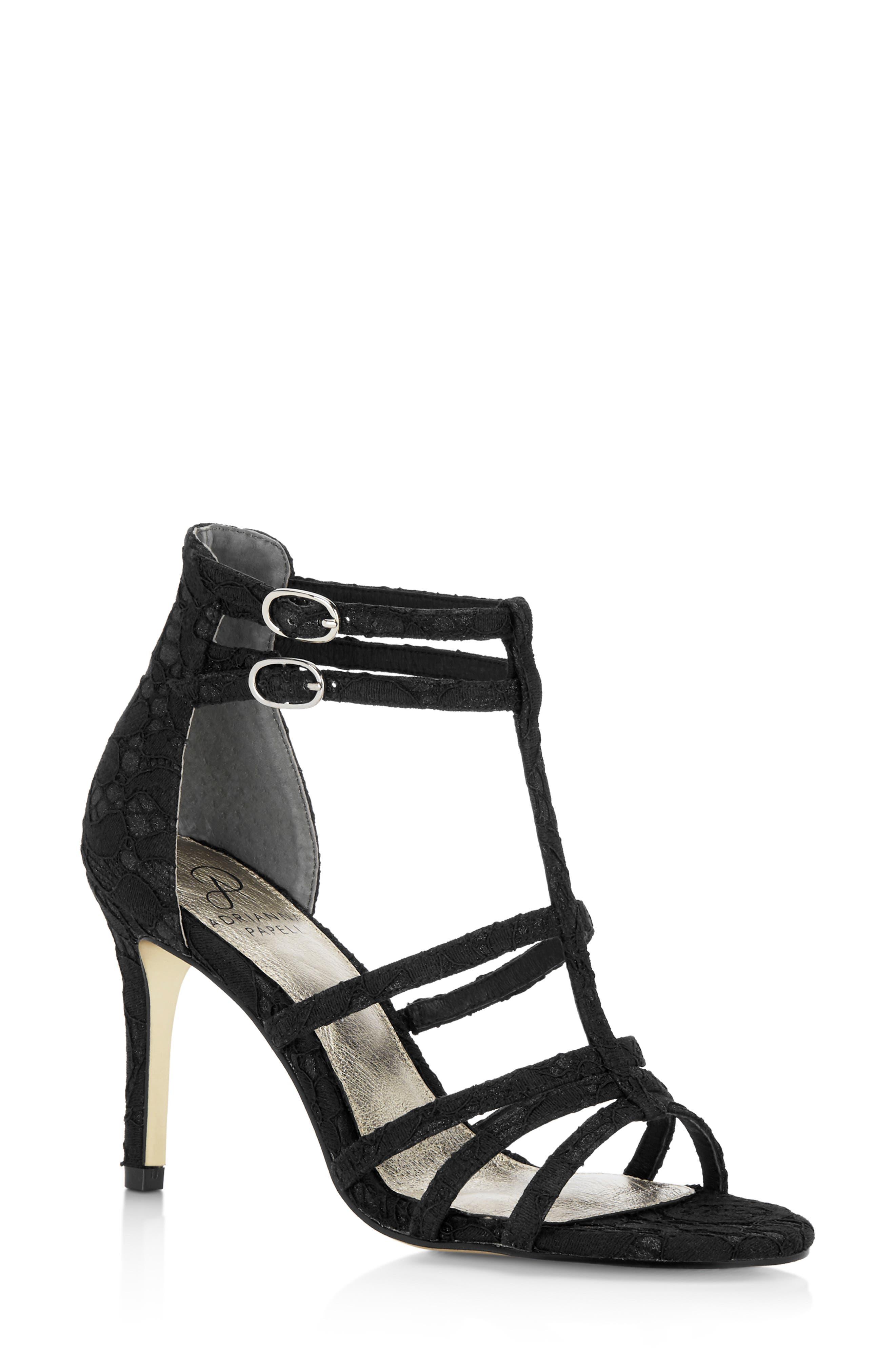 Adrianna Papell Adara Ankle Strap Sandal- Black