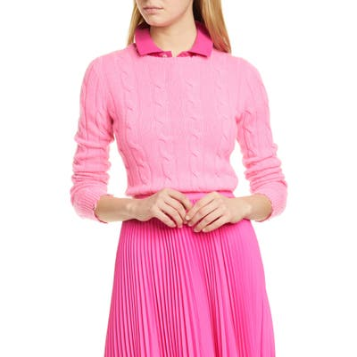 Polo Ralph Lauren Cable Wool & Cashmere Sweater, Pink