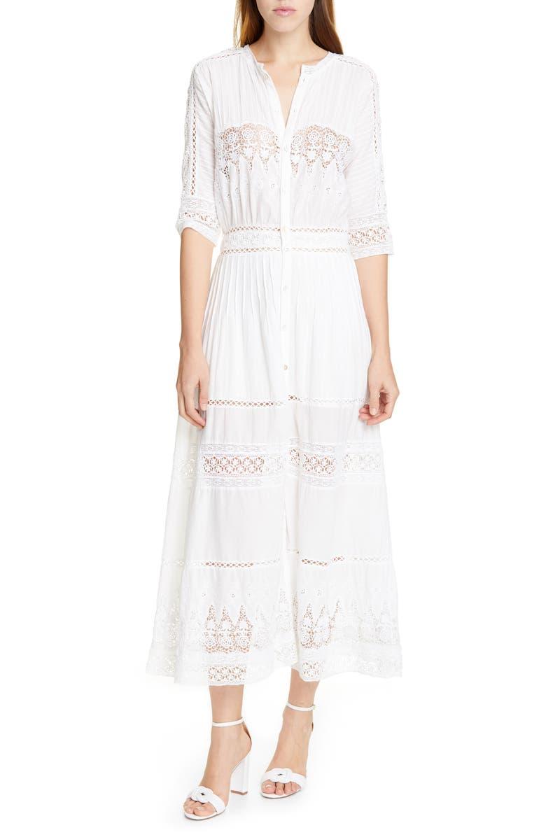 LOVESHACKFANCY Beth Maxi Dress, Main, color, WHITE