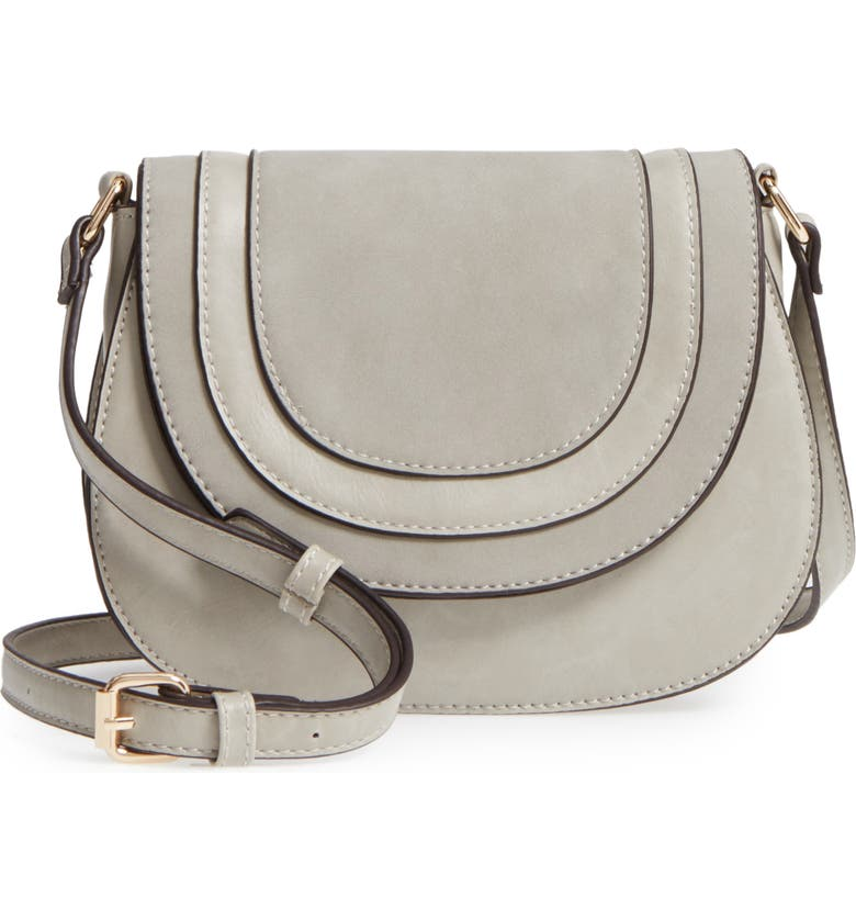 SOLE SOCIETY Bryson Faux Leather Crossbody Bag, Main, color, 025