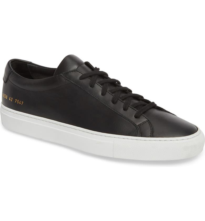 Achilles Low Sneaker Main Color Black Leather
