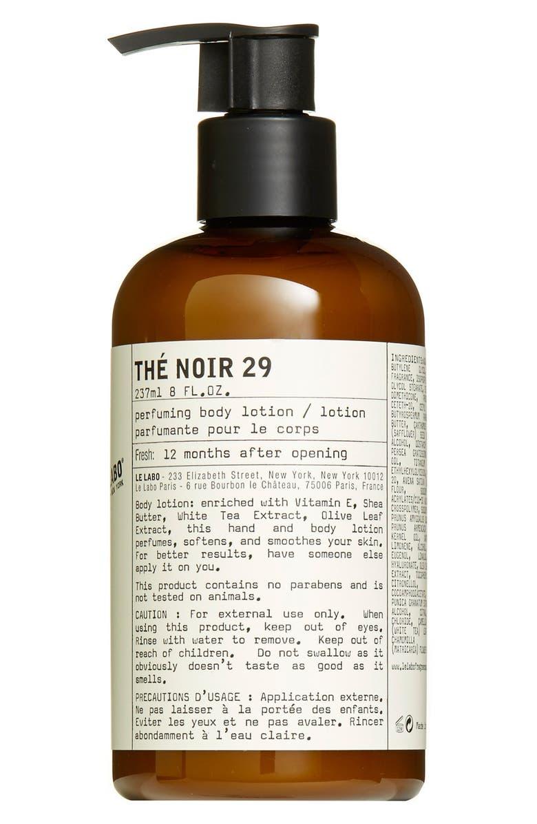 LE LABO 'Thé Noir 29' Hand & Body Lotion, Main, color, NO COLOR