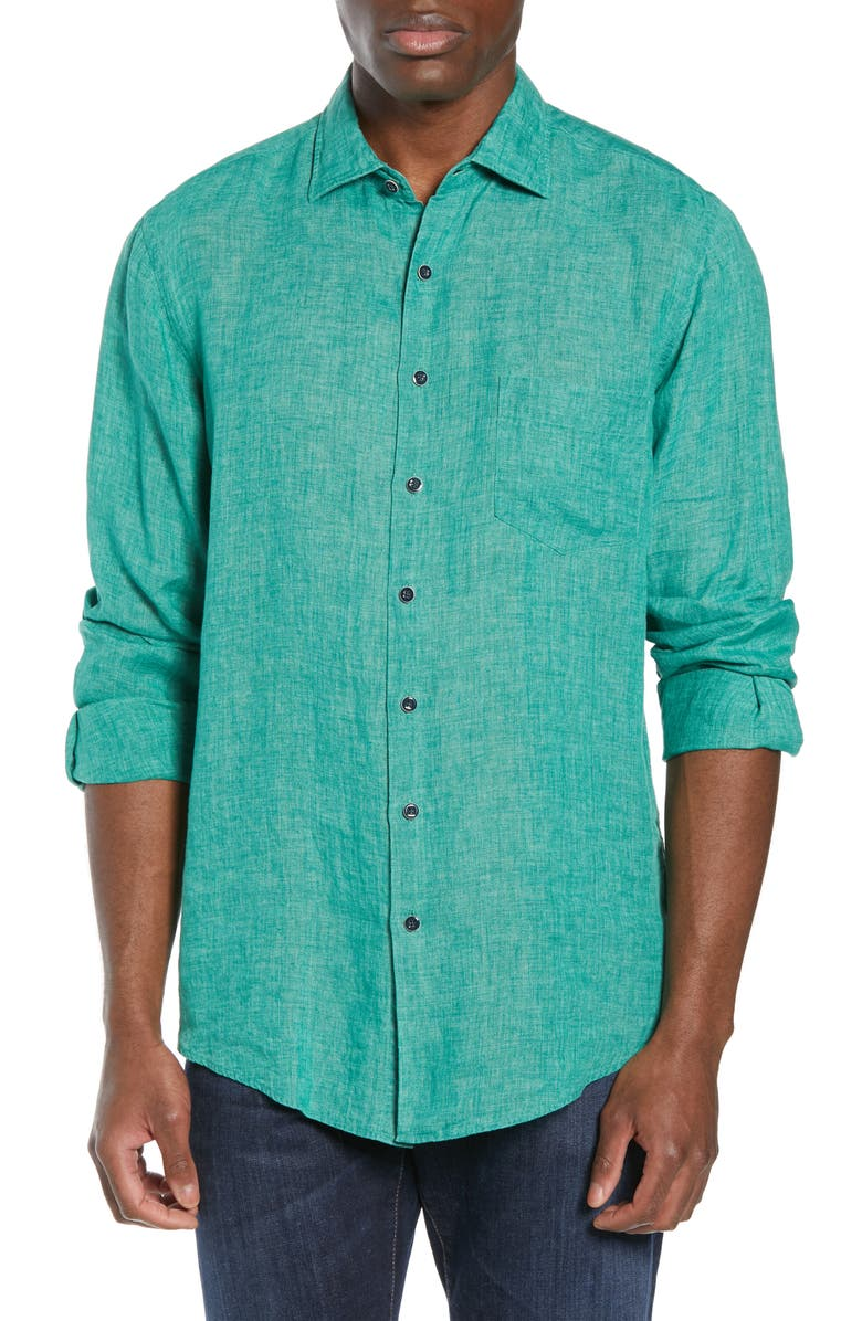 RODD & GUNN Roverbend Regular Fit Shirt, Main, color, JUNGLE