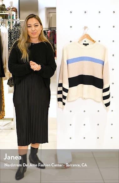 Playful Stripe Shaker Stitch Sweater, sales video thumbnail