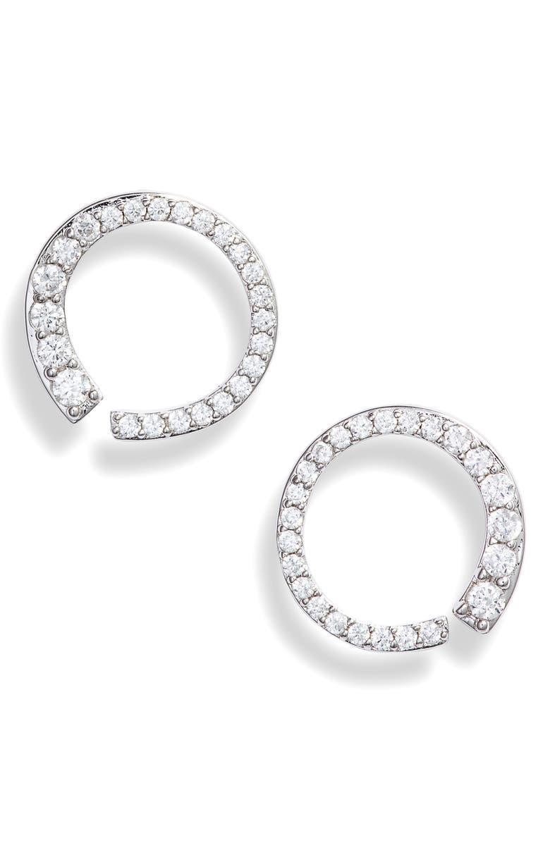 NADRI Small Ripple Circle Earrings, Main, color, 040