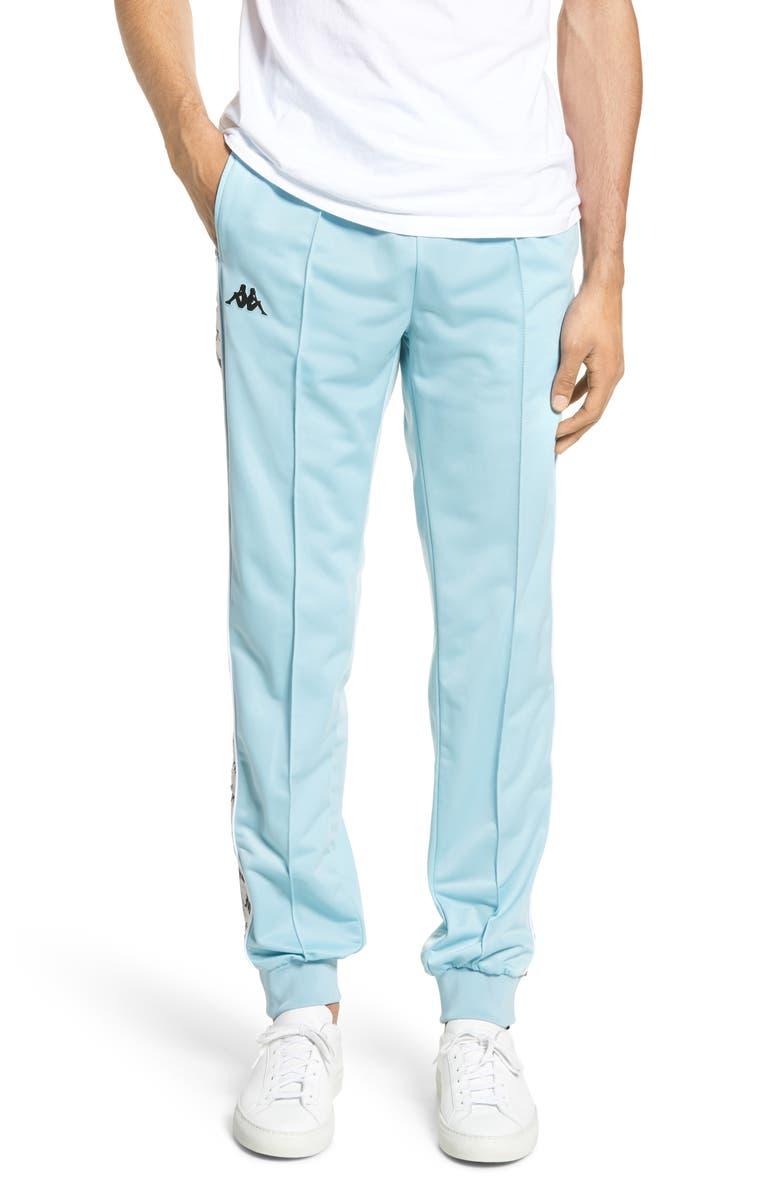 KAPPA 222 Banda Rastoriazz Slim Fit Track Pants, Main, color, AZURE/ GREY SILVER/ BLACK