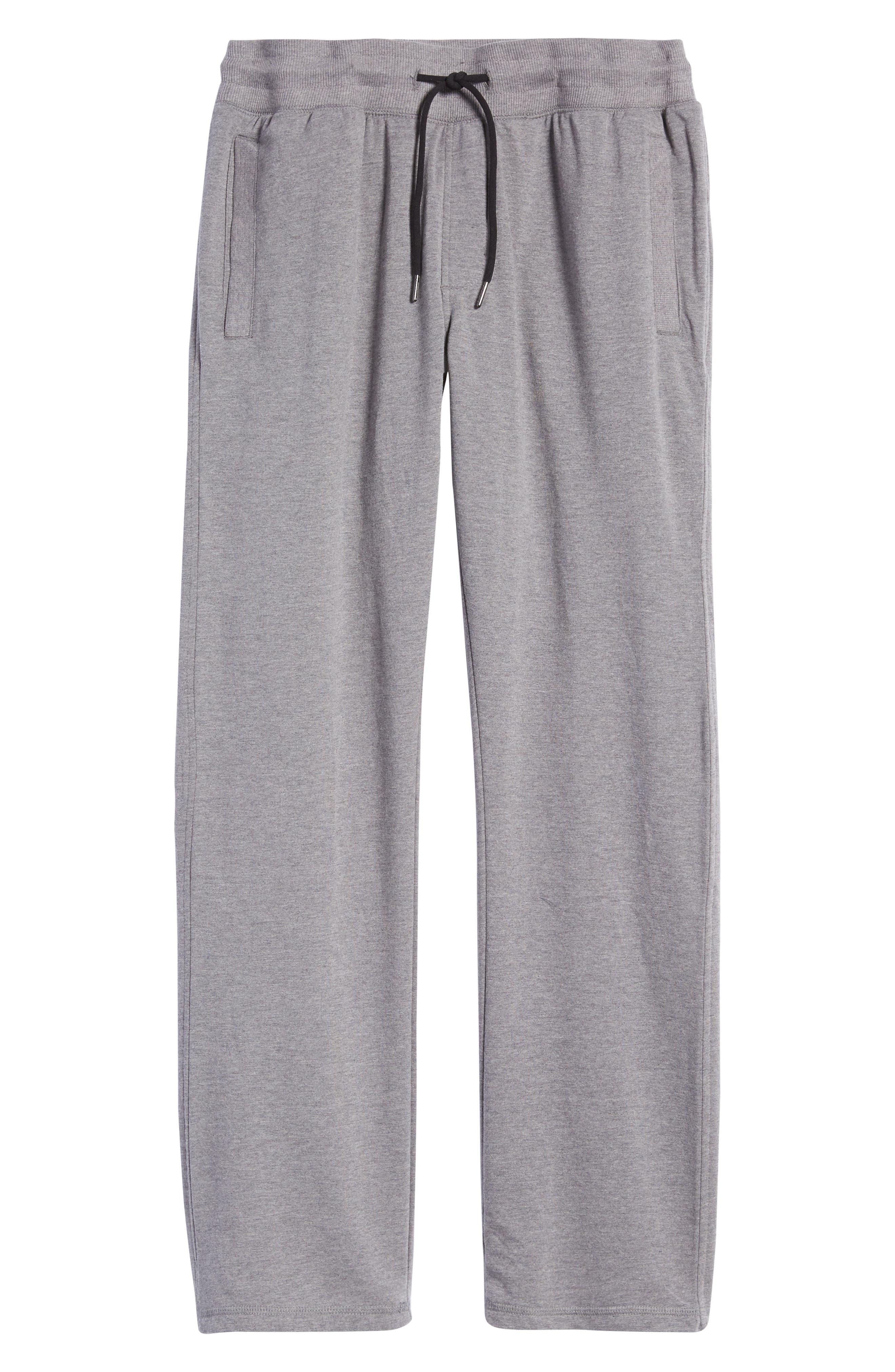 Men's Zella Men's Fleece Open Bottom Sweatpants