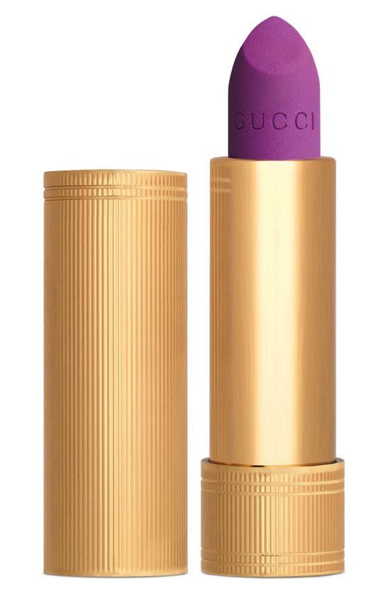 Gucci Rouge A Levres Mat Matte Lipstick In Purple