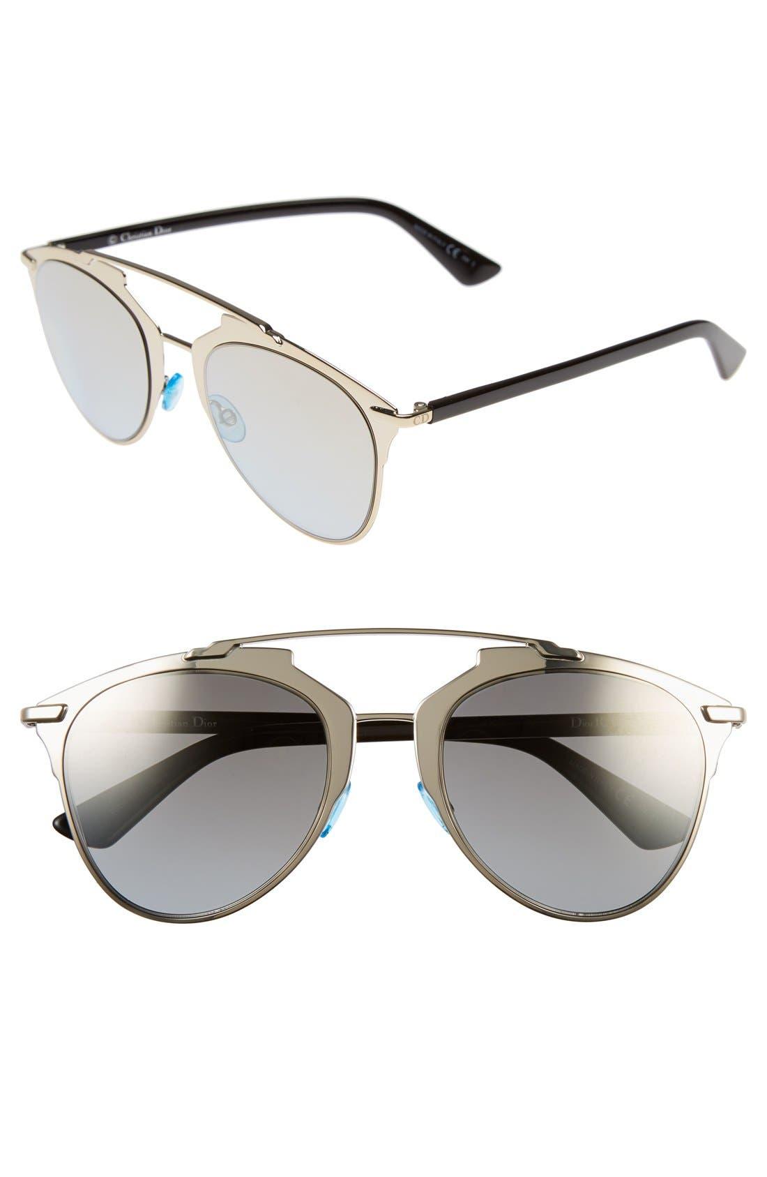 ,                             Reflected 52mm Brow Bar Sunglasses,                             Main thumbnail 36, color,                             712