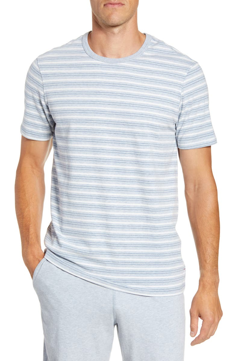 DANIEL BUCHLER Stretch Cotton & Modal Crewneck T-Shirt, Main, color, BLUE STRIPE