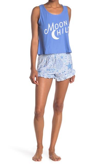 Image of Derek Heart Yummy Tank & Shorts 2-Piece Pajama Set