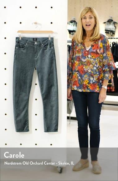 Harlow Ankle Slim Velvet Pants, sales video thumbnail