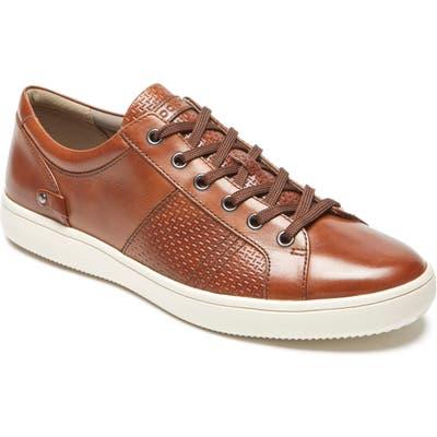 Rockport College Textured Sneaker- Brown