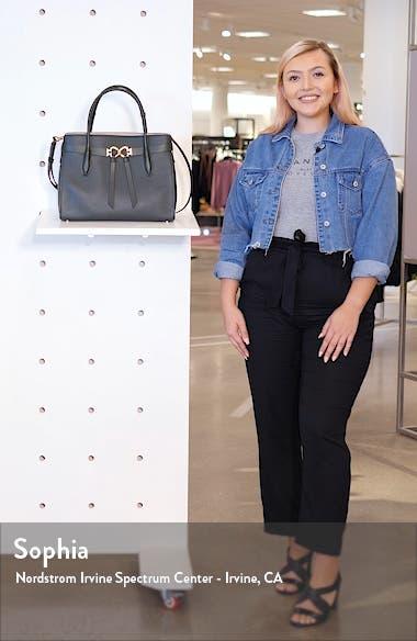 large toujours leather satchel, sales video thumbnail