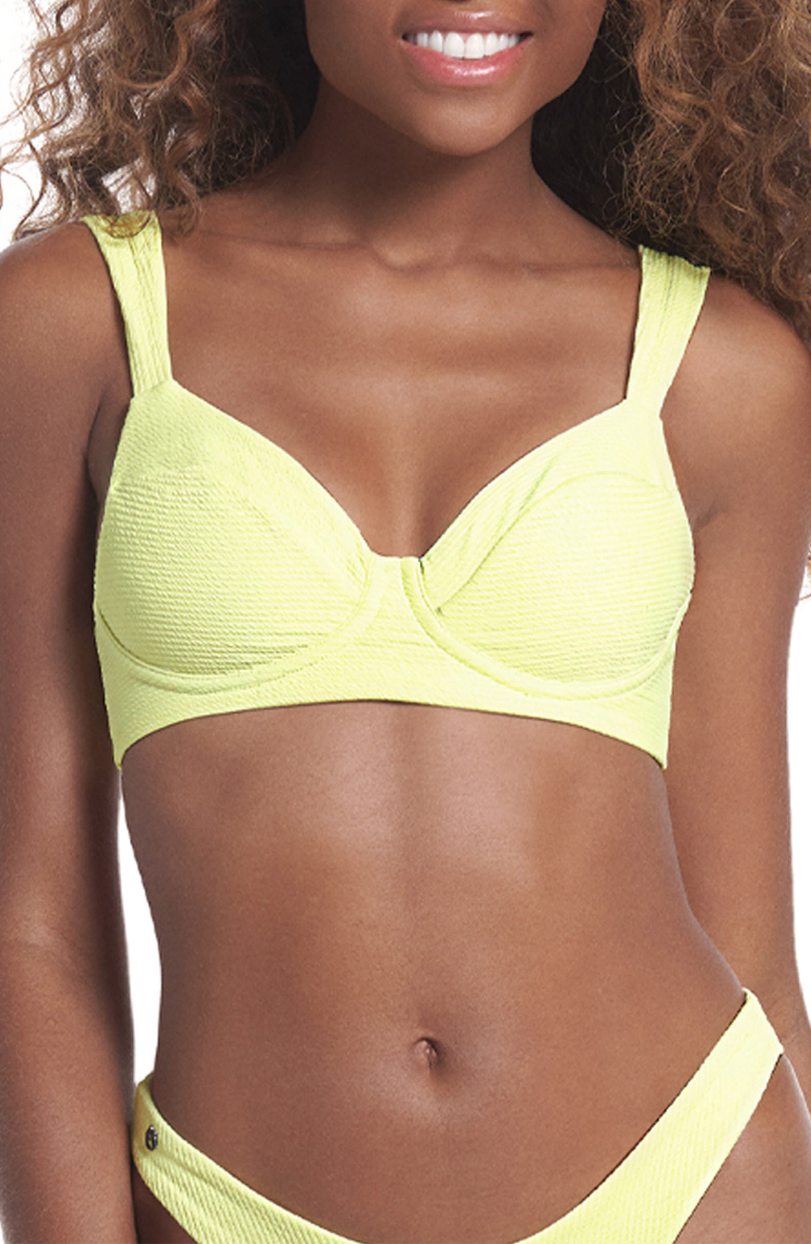 Butter Yellow Bailey Reversible Underwire Bikini Top