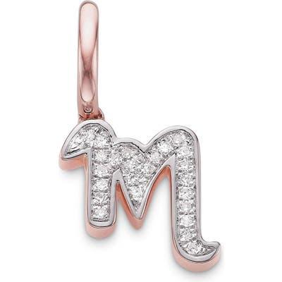 Monica Vinader Diamond Initial Pendant Charm