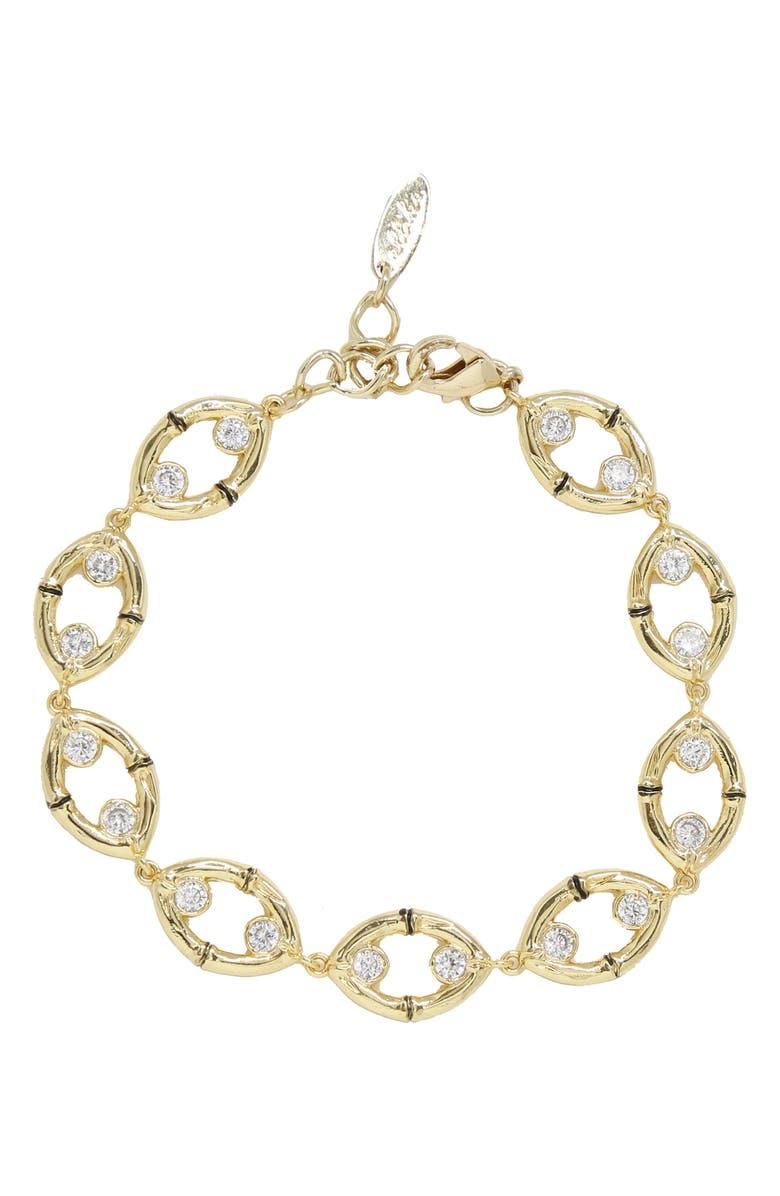 ETTIKA Oval Link Bracelet, Main, color, GOLD