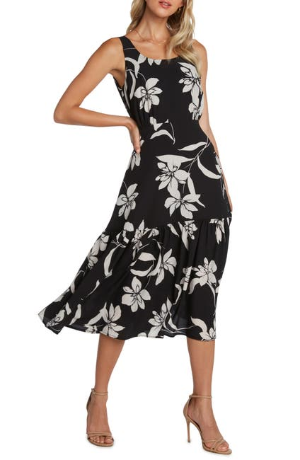 Image of WILLOW Kate Floral Print Midi Dress