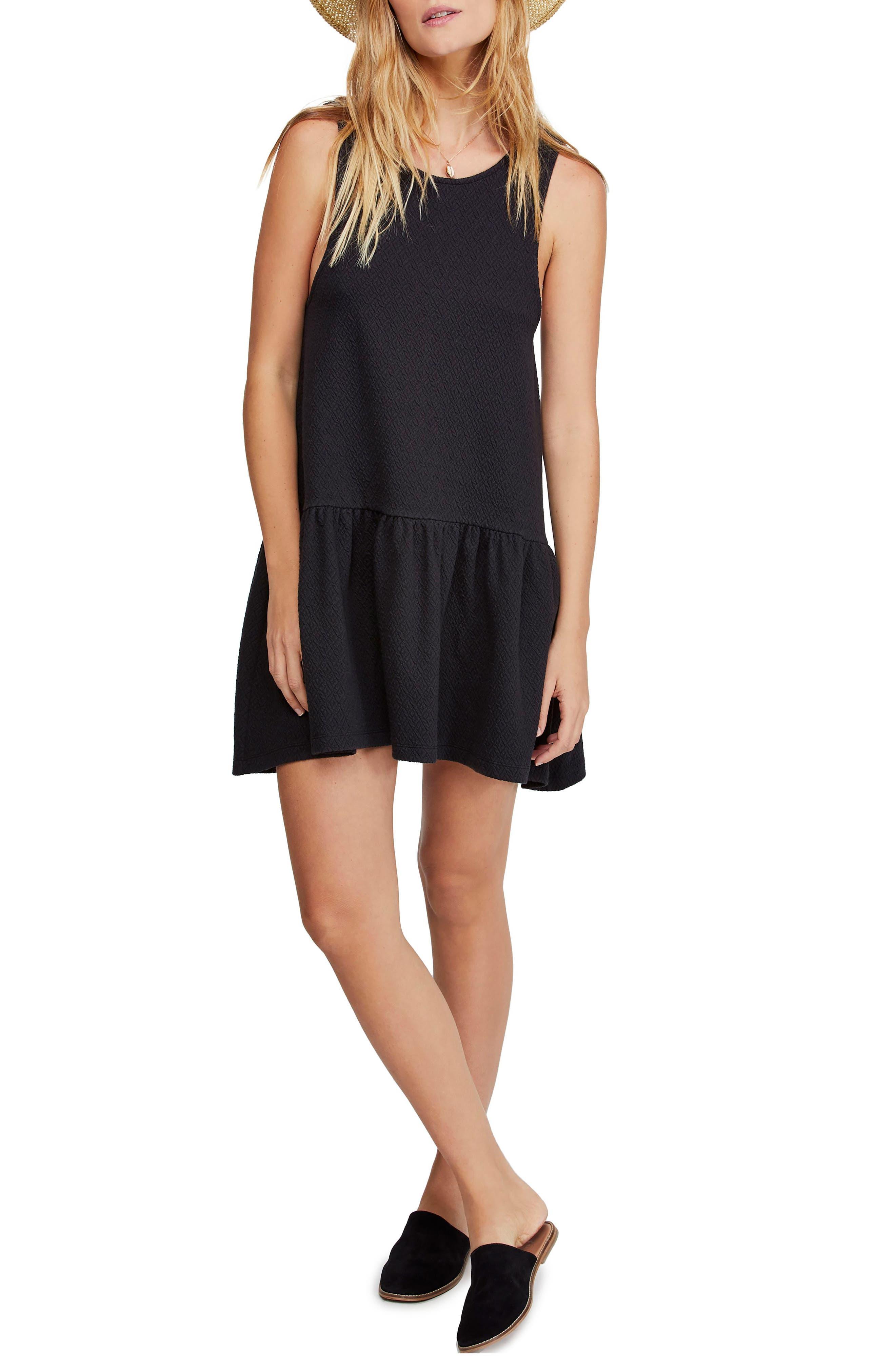 ,                             Easy Street Sleeveless Minidress,                             Main thumbnail 1, color,                             BLACK