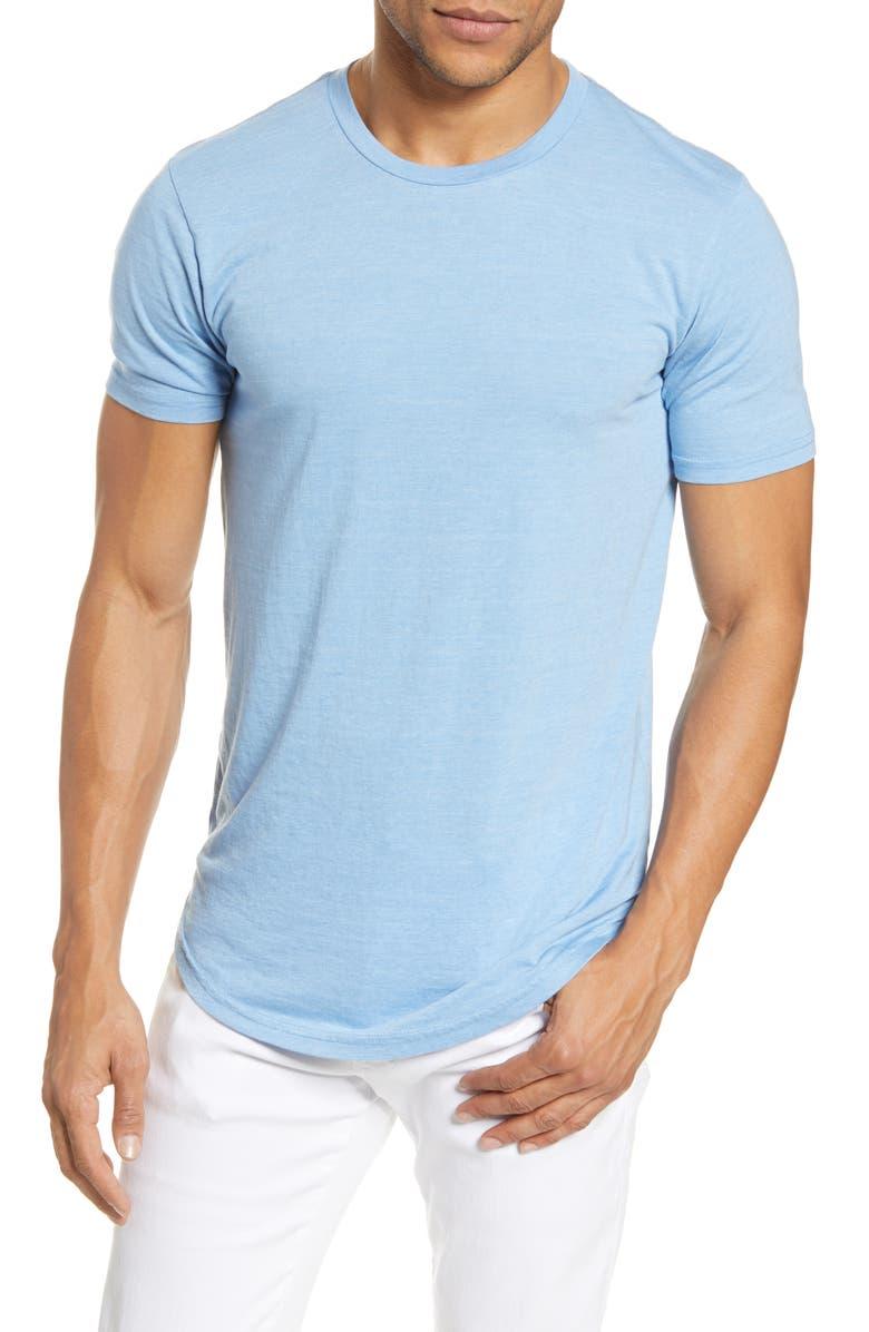 GOODLIFE Triblend Scallop Crewneck T-Shirt, Main, color, BLUE BELL