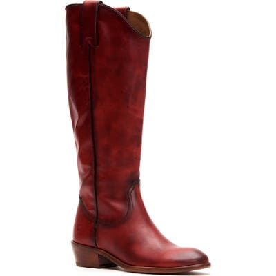 Frye Carson Knee High Boot- Red