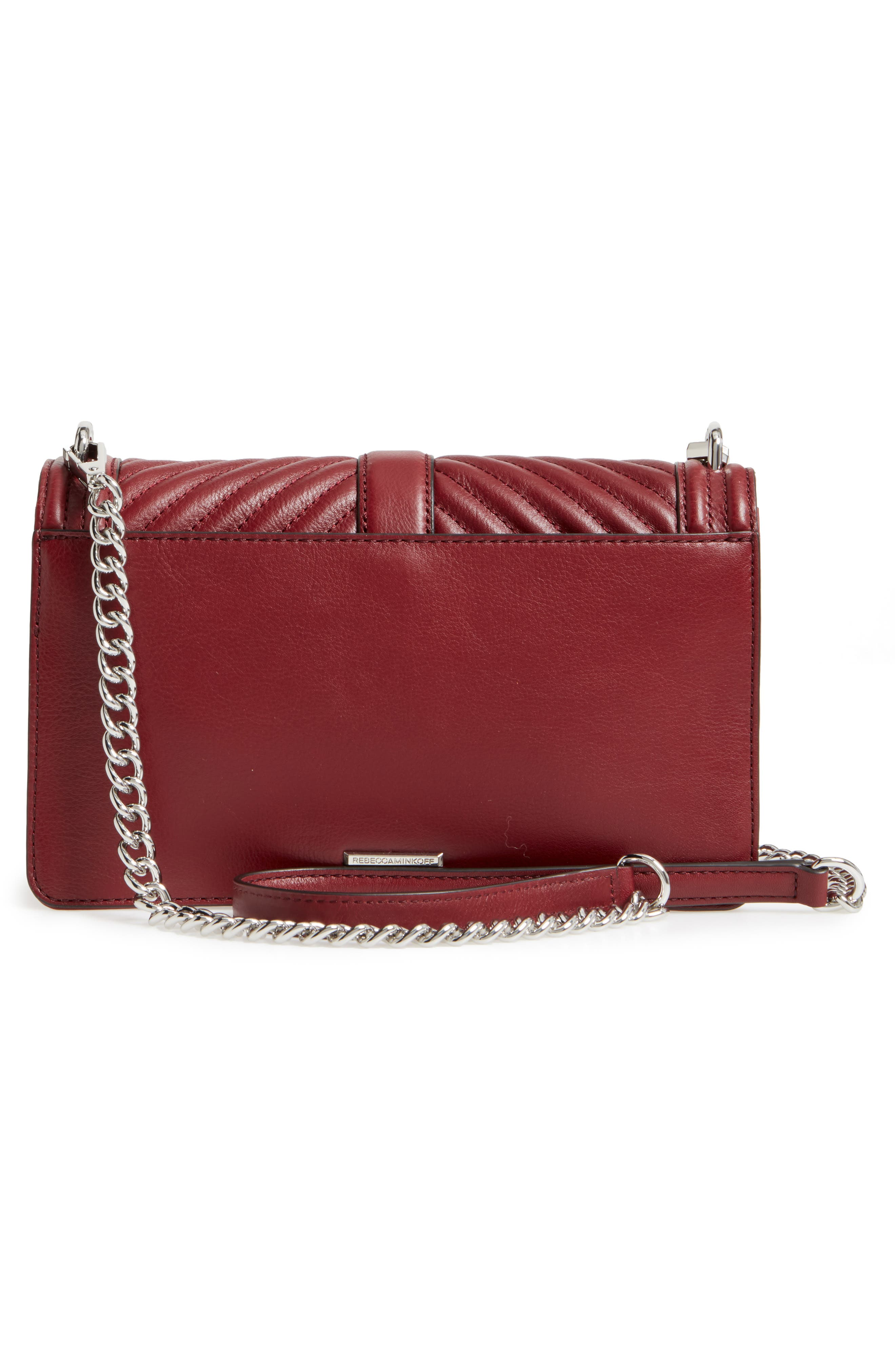 ,                             Love Leather Crossbody Bag,                             Alternate thumbnail 12, color,                             605