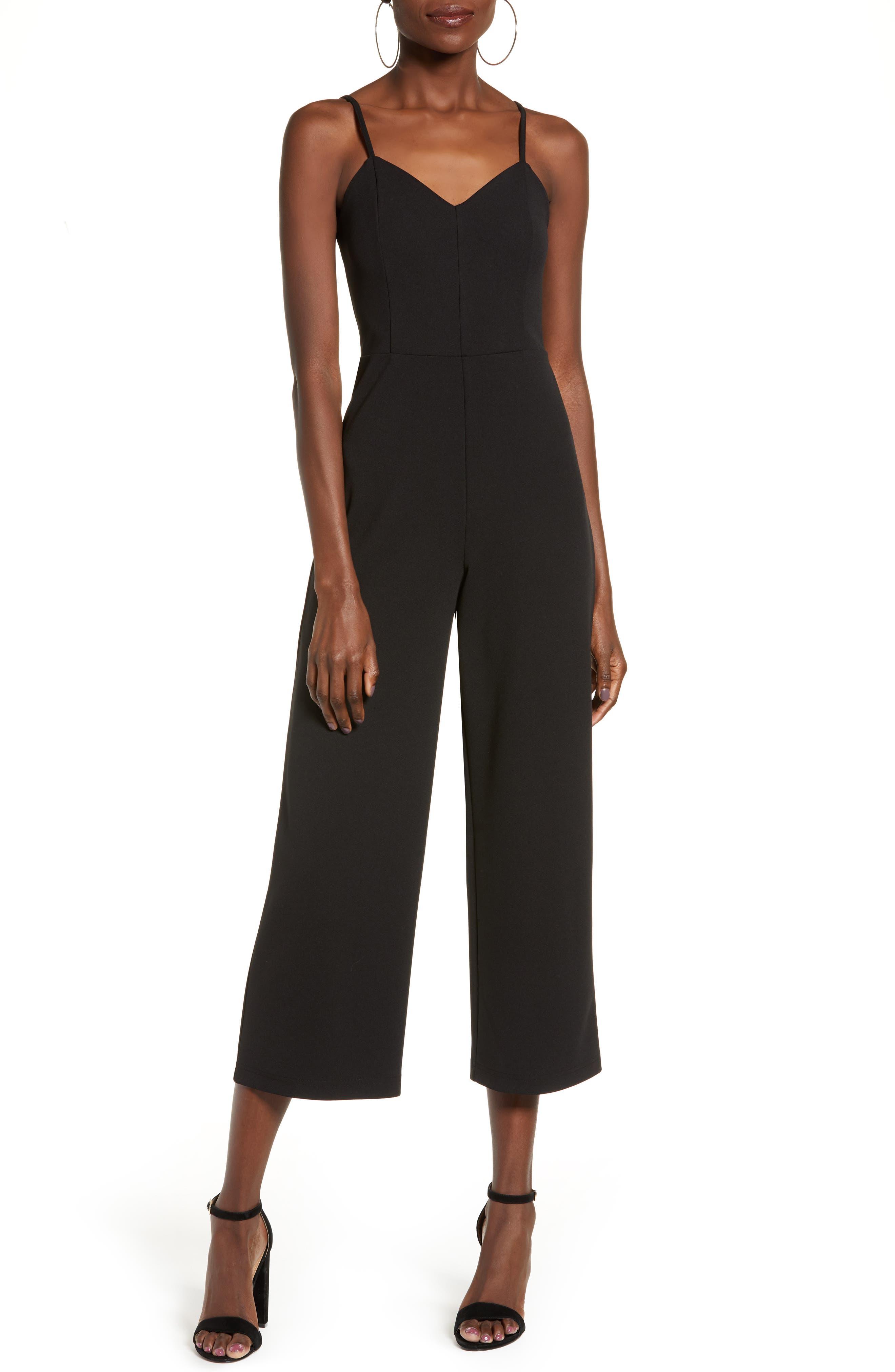 Strappy Jumpsuit, Main, color, BLACK