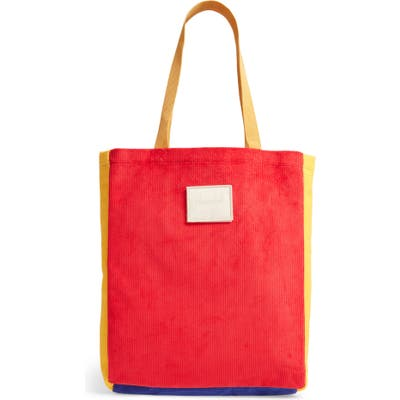 Herschel Supply Co. Colorblock Corduroy North/south Tote - Red