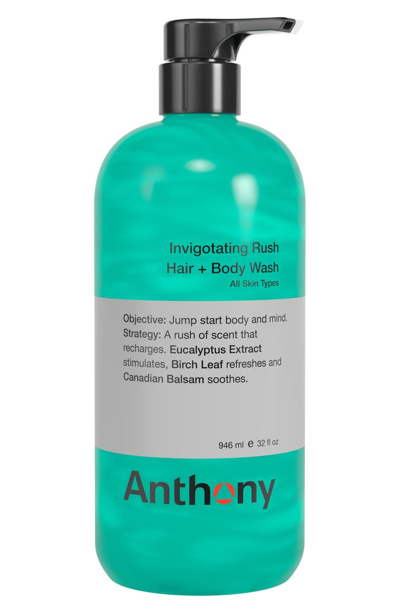 ANTHONY<SUP>™</SUP> Jumbo Invigorating Rush Hair & Body Wash, Main, color, NO COLOR