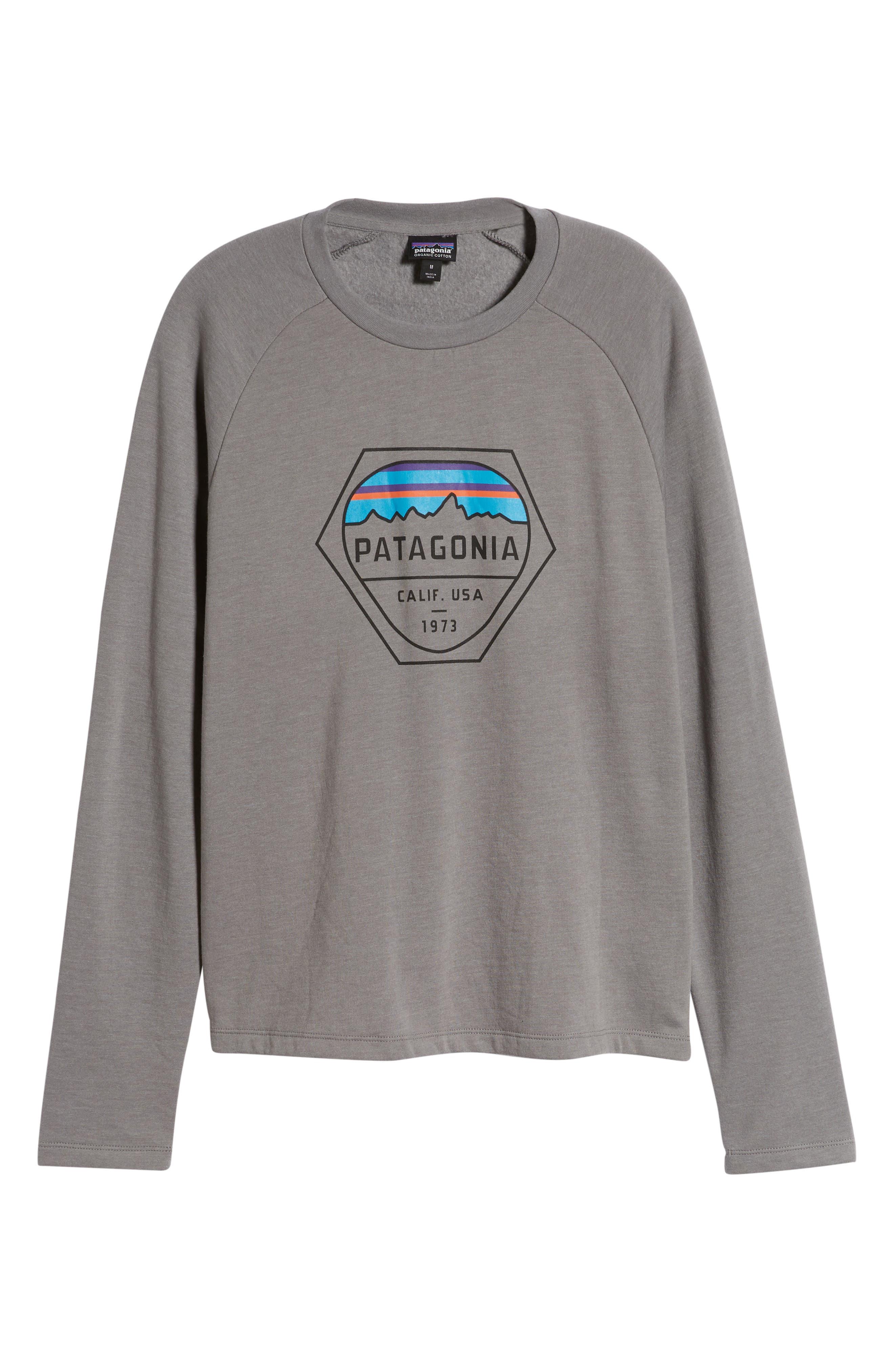,                             Fitz Roy Hex Logo Sweatshirt,                             Alternate thumbnail 6, color,                             FEATHER GREY