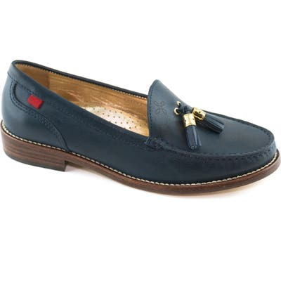 Marc Joseph New York West End Tassel Perforated Loafer, Blue