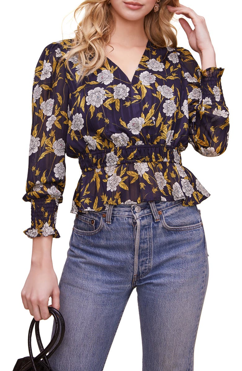 ASTR the Label Floral Peplum Top | Nordstrom