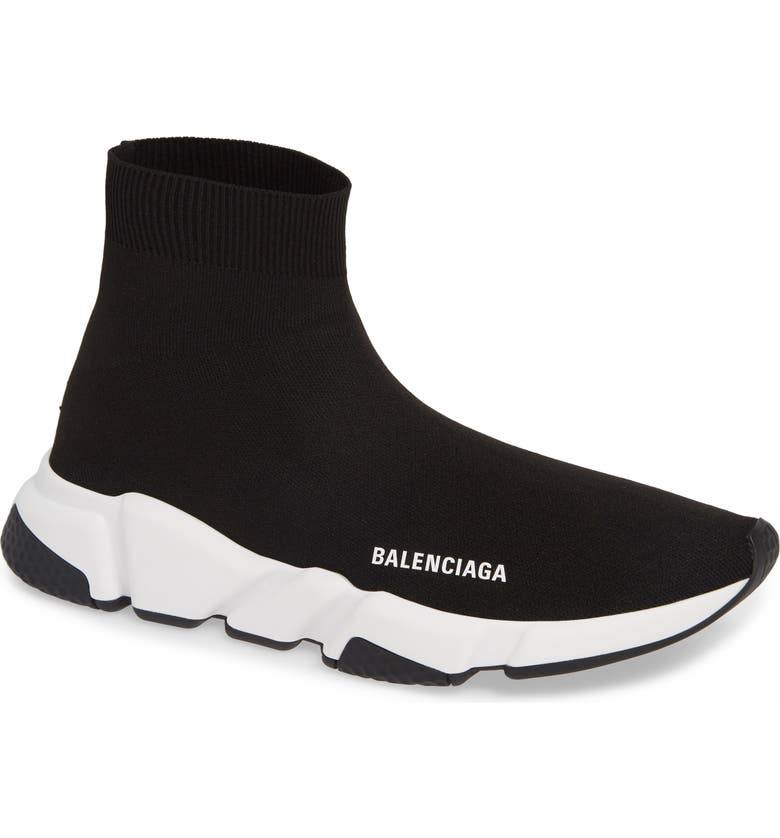 BALENCIAGA Speed High Slip-On, Main, color, 001