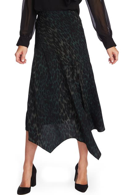 Vince Camuto Skirts ANIMAL PRINT ASYMMETRICAL HEM SKIRT