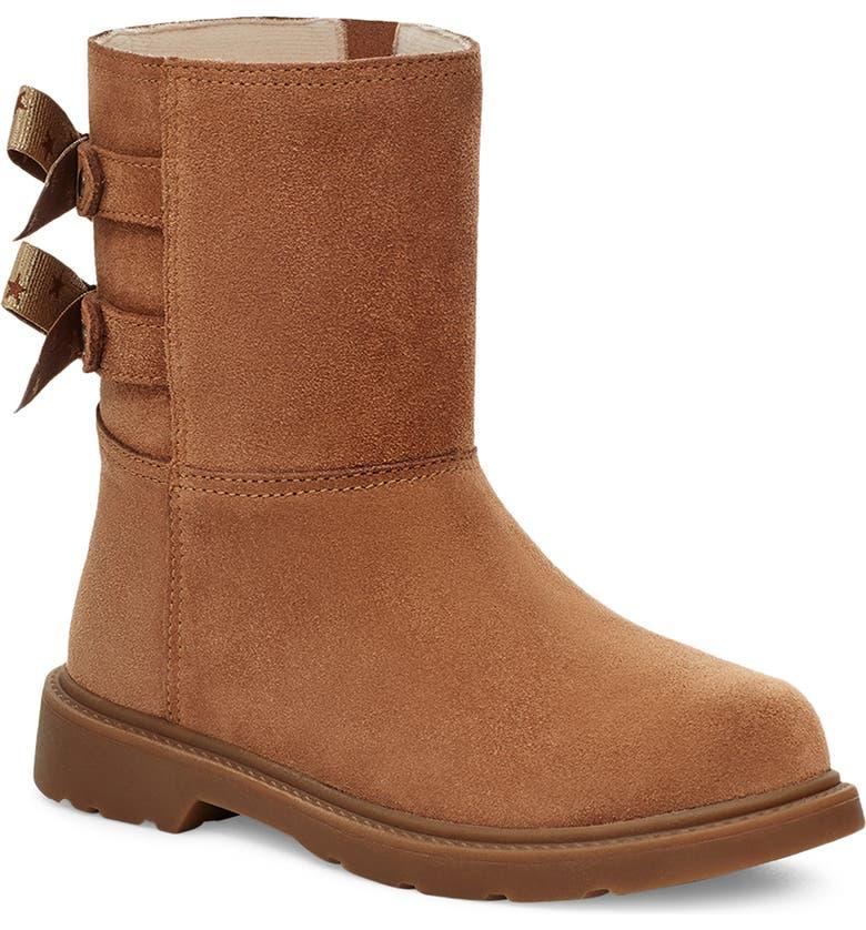 UGG<SUP>®</SUP> Kids' Tillee Boot, Main, color, CHESTNUT