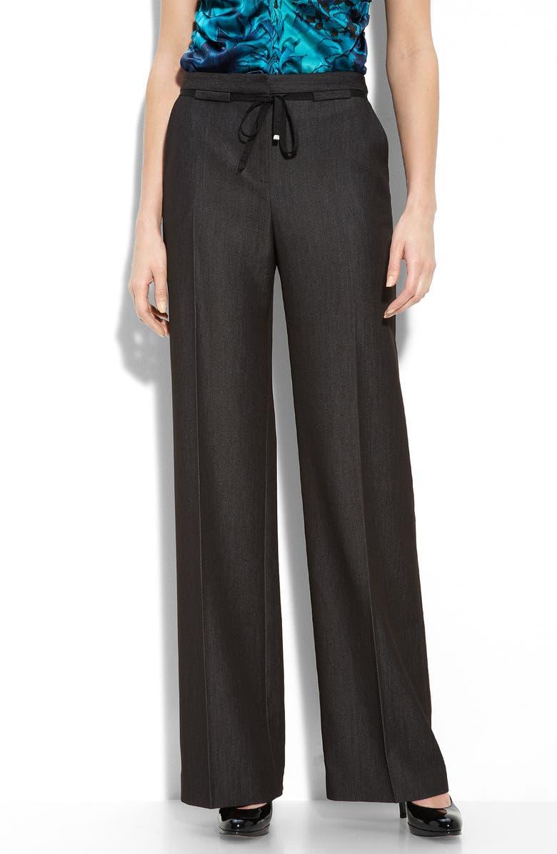 ELIE TAHARI EXCLUSIVE FOR NORDSTROM 'Lyndsey' Wide Leg Pants, Main, color, 001