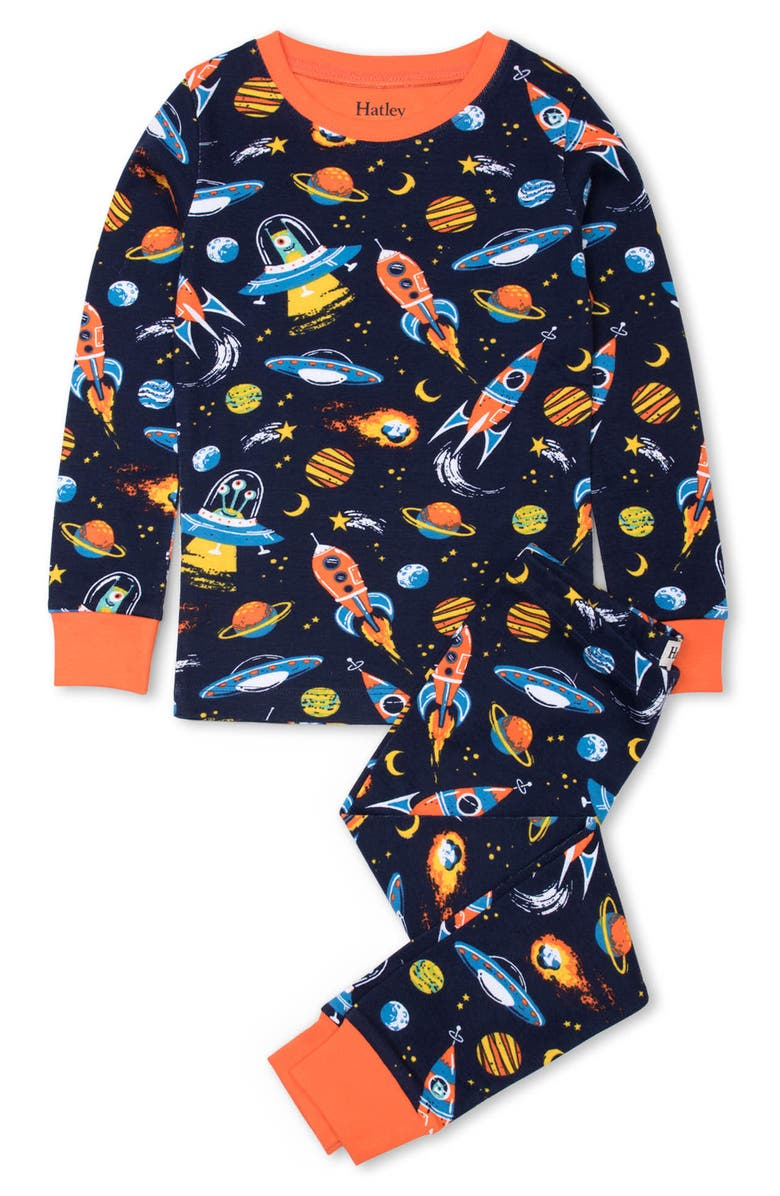 HATLEY Retro Rocks Fitted Two-Piece Pajamas, Main, color, 400