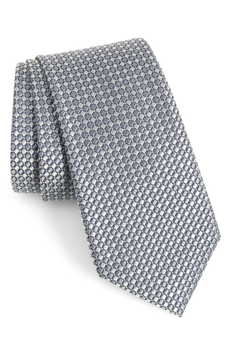NORDSTROM MEN'S SHOP Milton Check Silk Tie, Main, color, 004