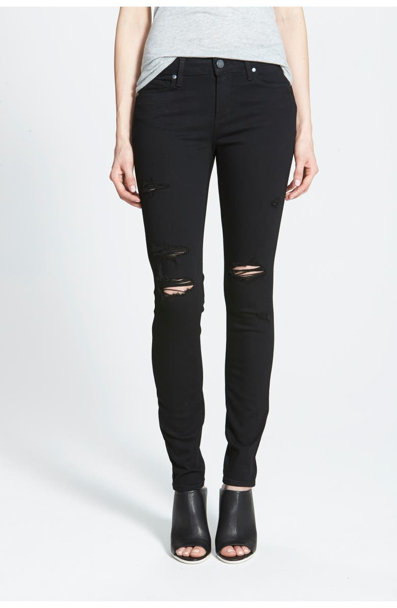 PAIGE Transcend - Verdugo Ultra Skinny Jeans, Main, color, 001