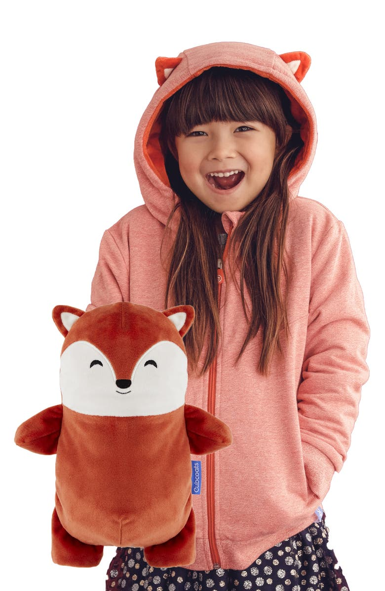 CUBCOATS Flynn 2-in-1 Stuffed Animal Hoodie, Main, color, BURNT ORANGE MARL MIX