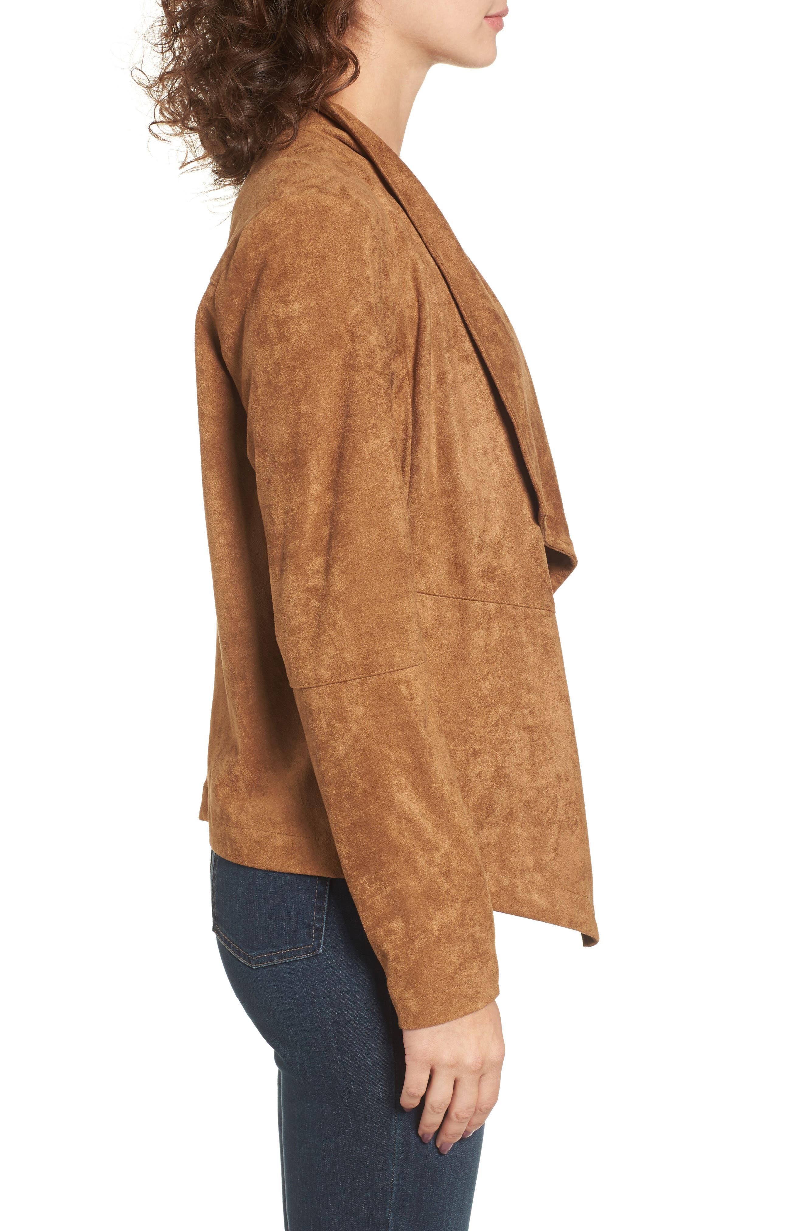 ,                             Nicholson Faux Suede Drape Front Jacket,                             Alternate thumbnail 30, color,                             252