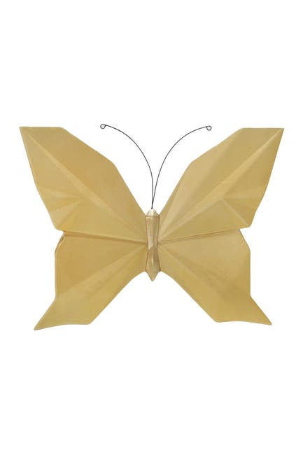 """Image of SAGEBROOK HOME Resin 10"""" W Origami Butterfly Wall Decor - Gold"""