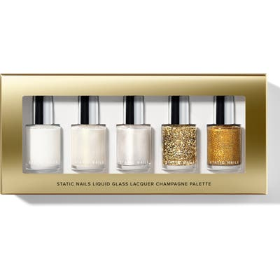 Static Nails Champagne Liquid Glass Nail Lacquer Set - No Color