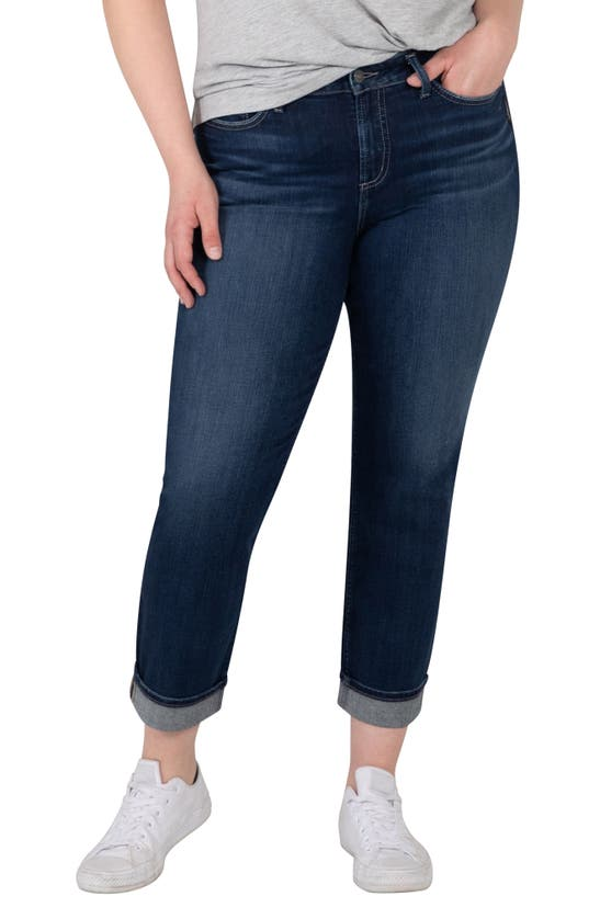 Silver Jeans Co. AVERY CROP STRAIGHT LEG JEANS
