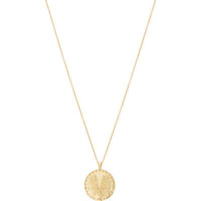 Gorjana Palm Coin Pendant Necklace