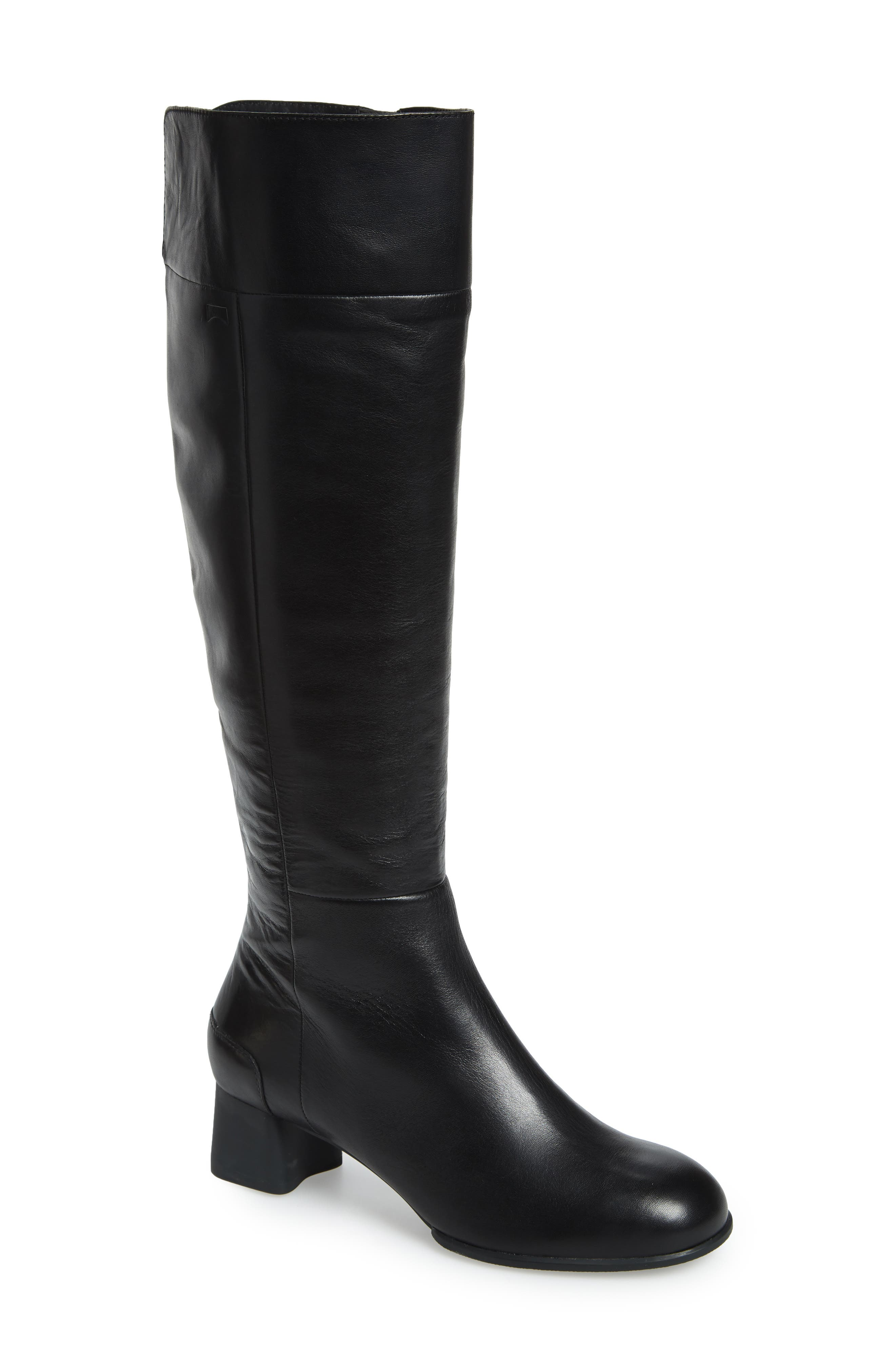 A streamlined knee-high boot marries modern sophistication and everyday comfort with an eye-catching square heel and a signature lightweight, flexible sole. Style Name: Camper Katie Knee High Boot (Women). Style Number: 5668338. Available in stores.