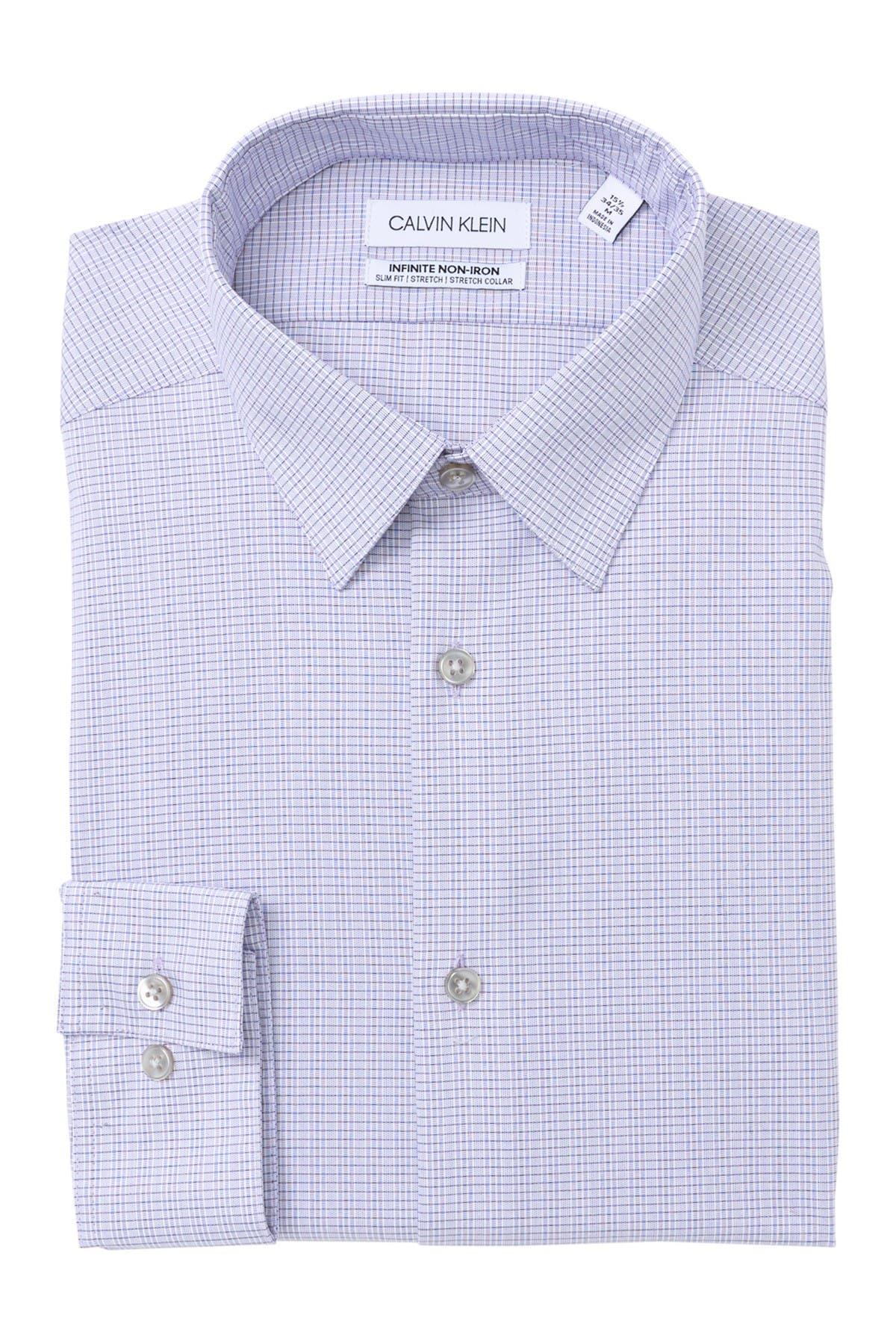 Image of Calvin Klein Non-Iron Slim Fit Stretch Dress Shirt