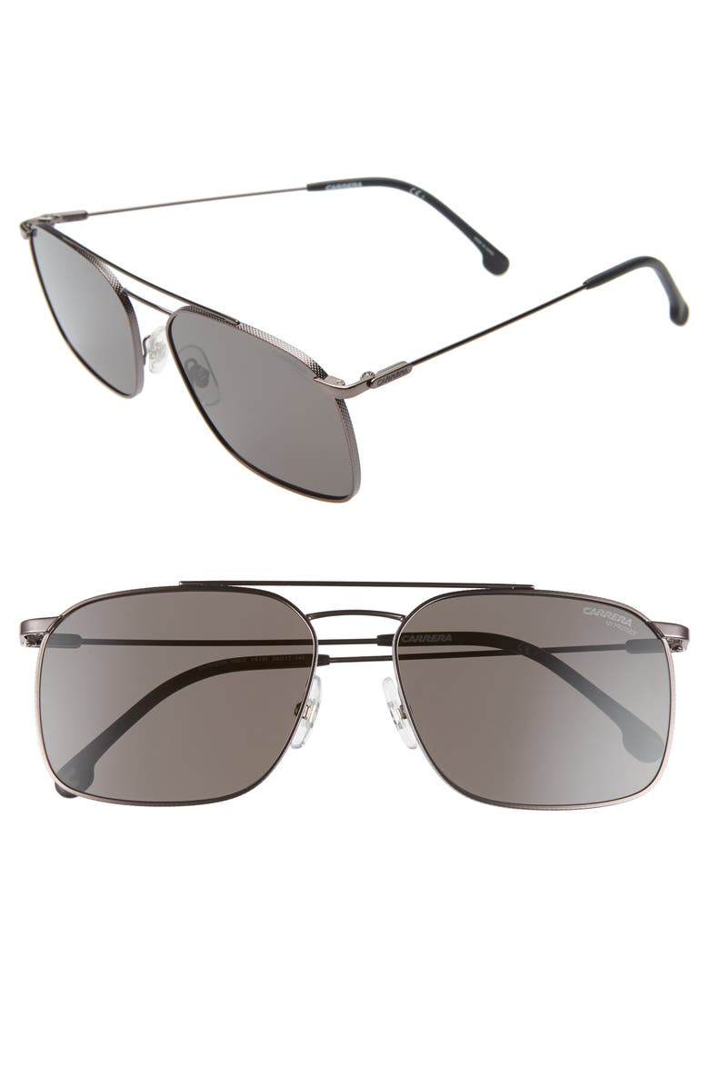 CARRERA EYEWEAR 59mm Aviator Sunglasses, Main, color, DARK RUTHENIUM BLACK