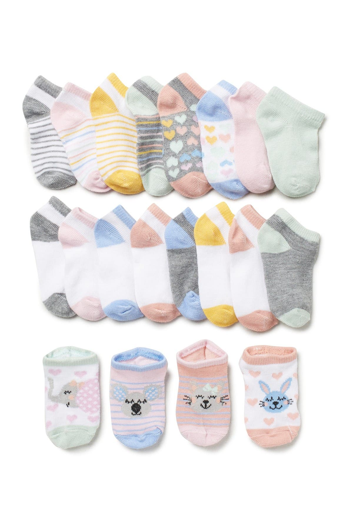 Image of CAPELLI OF NEW YORK Cute Critters Low Socks - Pack of 20