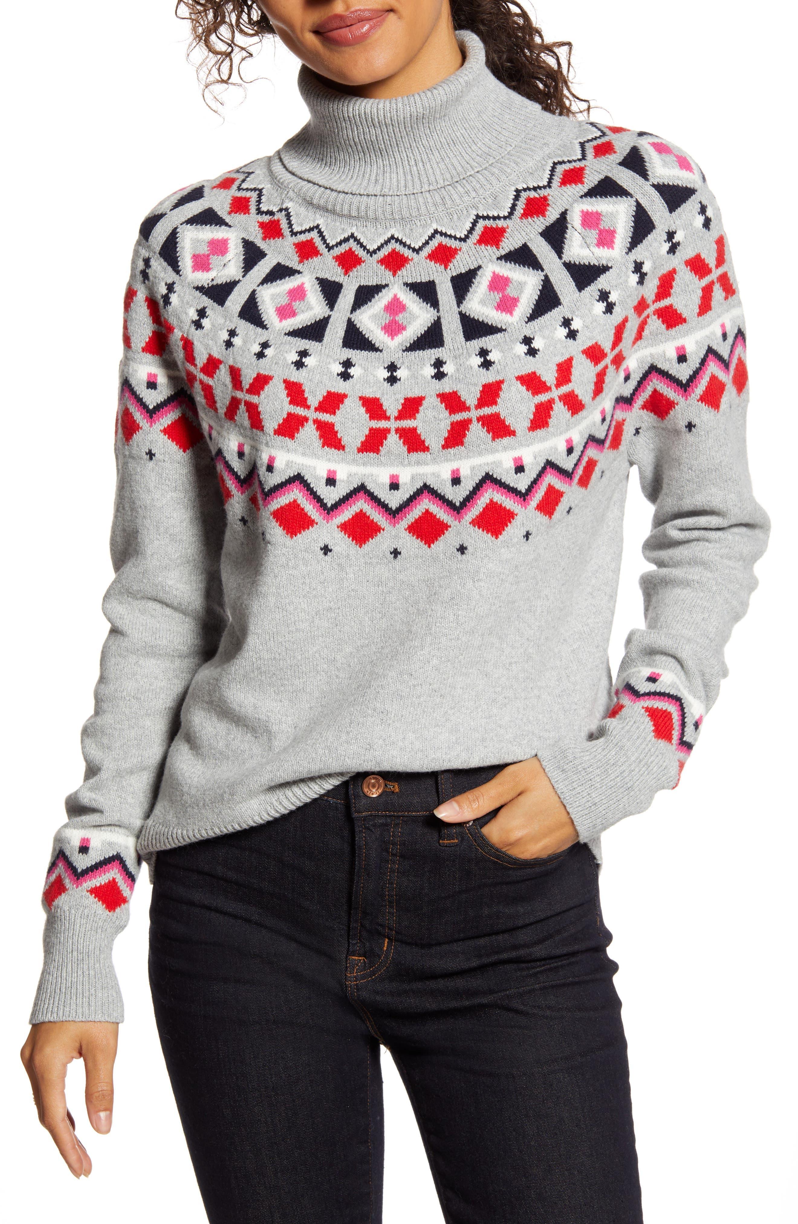 1901 Shrunken Fair Isle Turtleneck Sweater